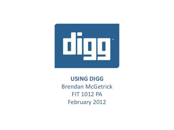 Using Digg