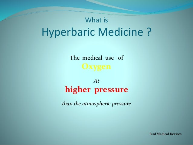 Medical uses of oxygen?
