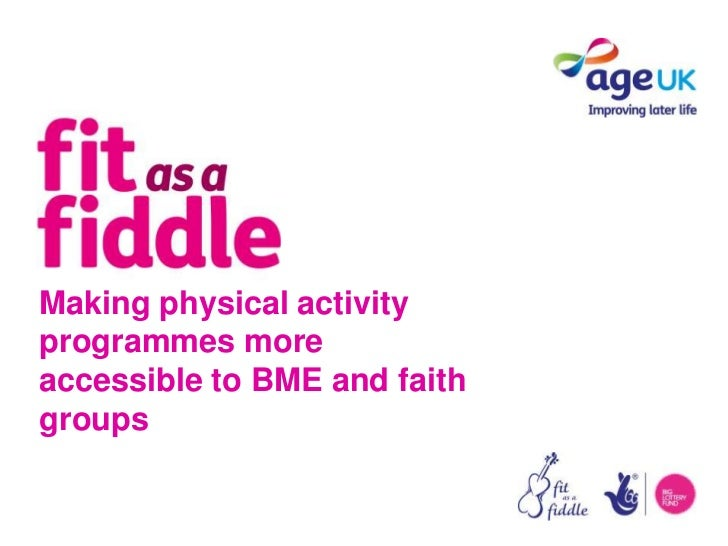 Activities for BME and faith groups presentation