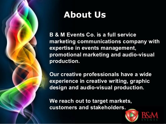 b amp m events company profile