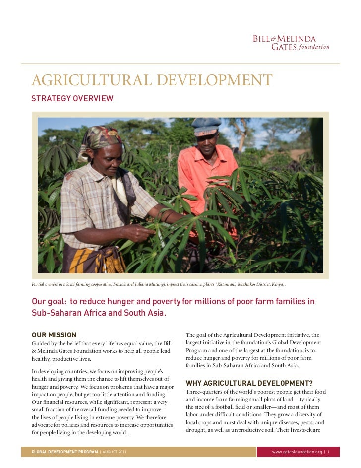 AGRICULTURAL DEVELOPMENTSTRATEGY OVERVIEWPartial owners in a local farming cooperative, Francis and Juliana Mutungi, inpse...