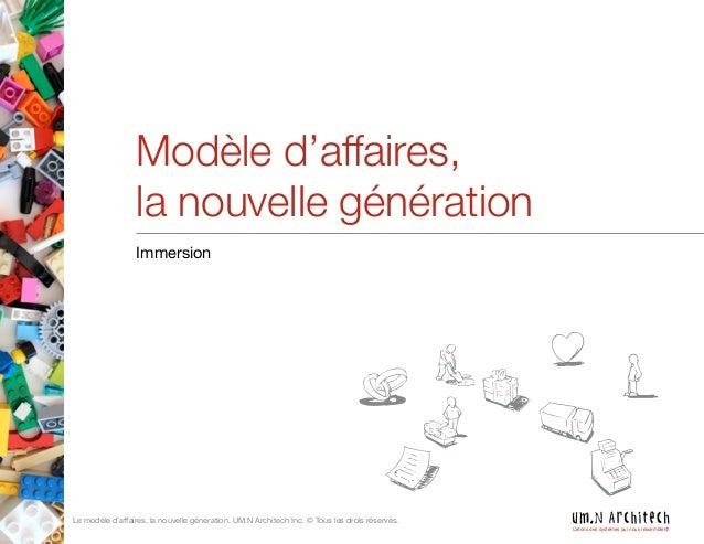 Modèle d'affaires, la nouvelle génération
