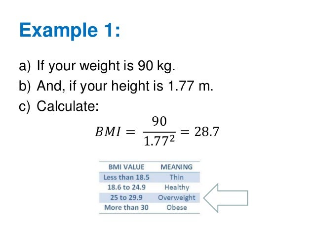 how to calculate bmi formula manually