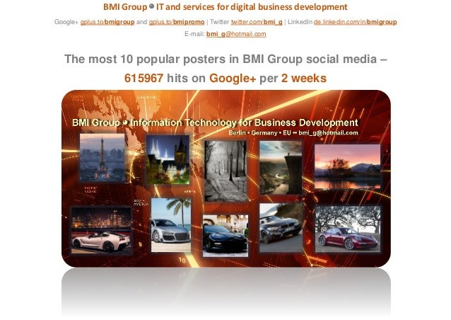 BMI Group ◕ IT and services for digital business development Google+ gplus.to/bmigroup and gplus.to/bmipromo | Twitter twi...