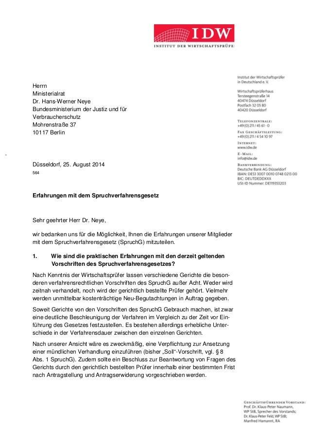Herrn Ministerialrat Dr. Hans-Werner Neye Bundesministerium der Justiz und für Verbraucherschutz Mohrenstraße 37 10117 Ber...