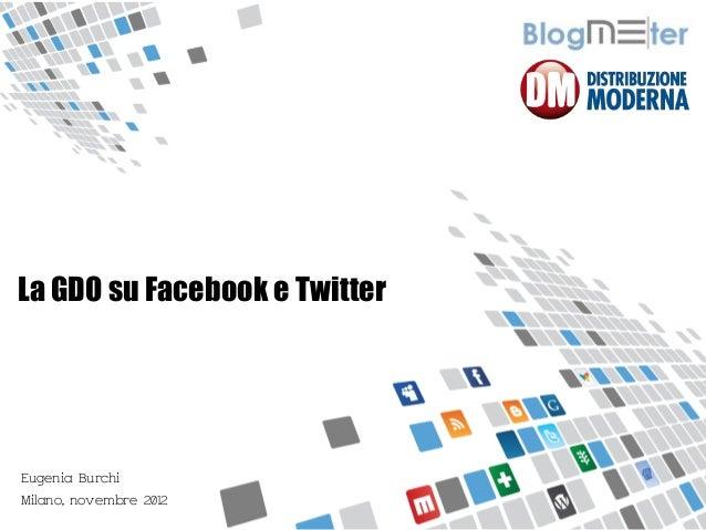 MISURIAMO IL PASSAPAROLA ONLINELa GDO su Facebook e TwitterEugenia BurchiMilano, novembre 2012