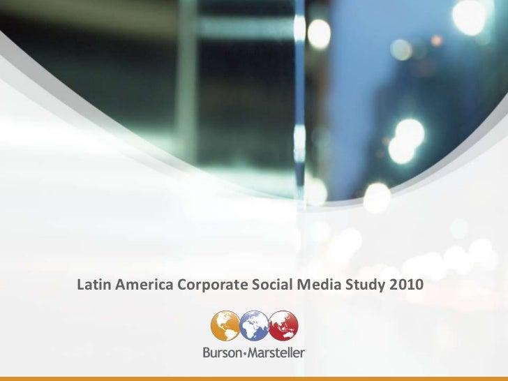 Latin America Social Media Check-Up