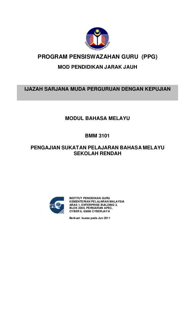 Bmm3101 bmm3101 pengajian_sukatan_pelajaran_bahasa_melayu