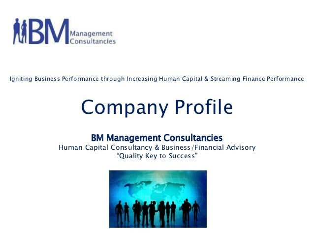Igniting Business Performance through Increasing Human Capital & Streaming Finance Performance                      Compan...