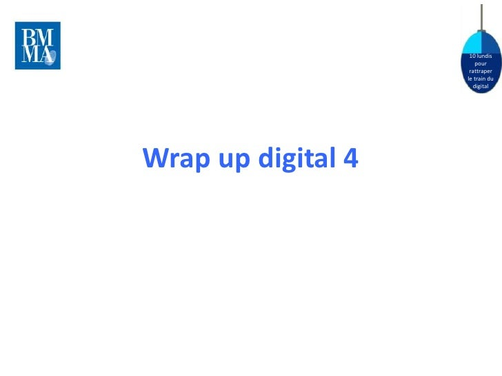 Wrap up digital 4 - Digital communication in practice: display , brand awareness (Bruno Van Bouck)