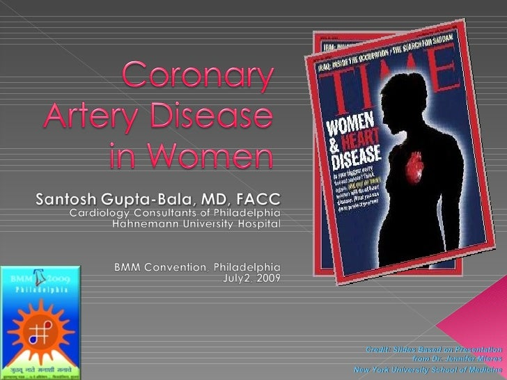 Coronary Artery Disease in Women