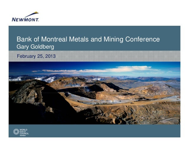 Bank of Montreal Metals and Mining ConferenceGary GoldbergFebruary 25, 2013
