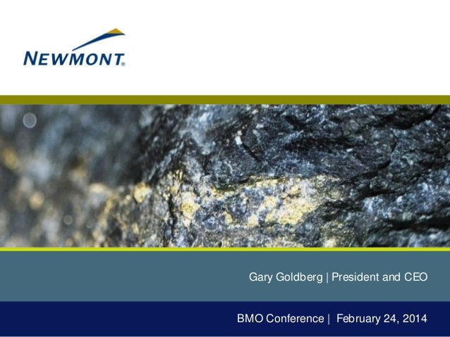 Gary Goldberg | President and CEO  BMO Conference | February 24, 2014