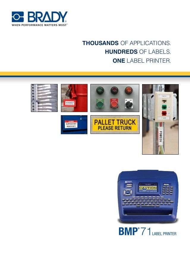 BMP71 Label Printer Brochure and Price List