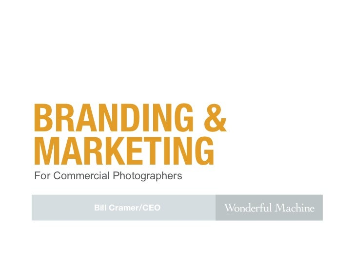 Branding & Marketing for Commercial Photographers / Photoshelter Luminance