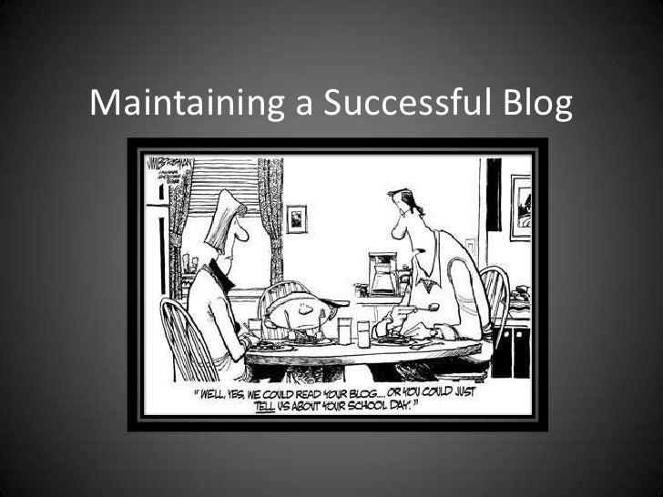 BC BMPR Pres: Maintain Blog