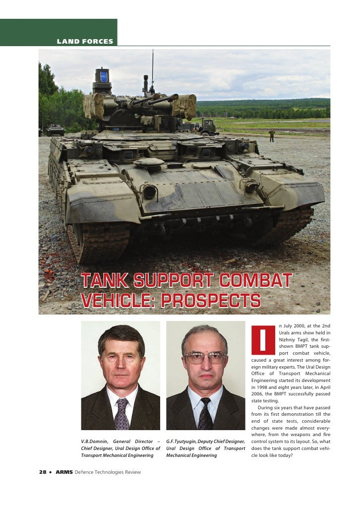 LAND FORCES                       TANK SUPPORT COMBAT                   VEHICLE: PROSPECTS                                ...