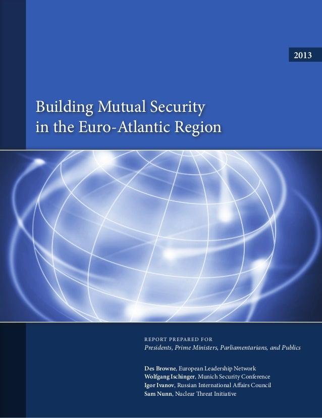 Building Mutual Security in the Euro-Atlantic Region