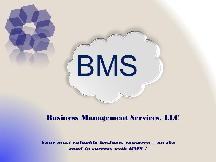 BMS Business Management Services, LLCYour most valuable business resource….on the        road to success with BMS !