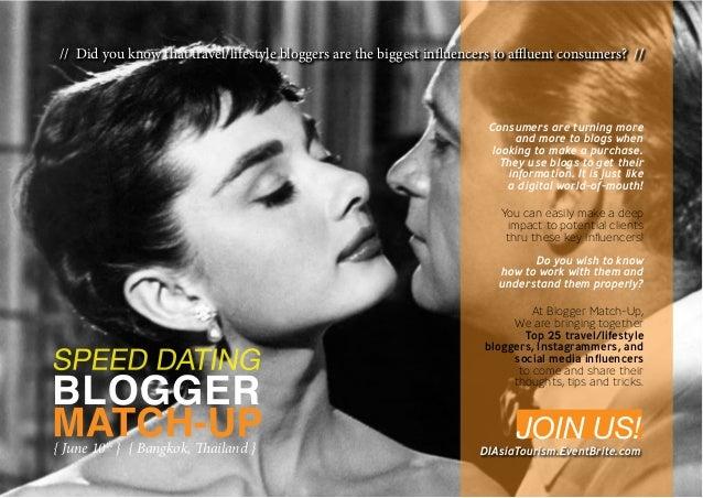 Blogger Match-Up Speed Dating - June 10 in Bangkok