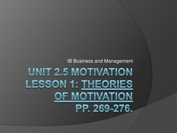 Bm Unit 2.5 Motivation