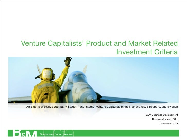 Venture Capitalists' Product and Market Related                              Investment Criteria An Empirical Study about ...