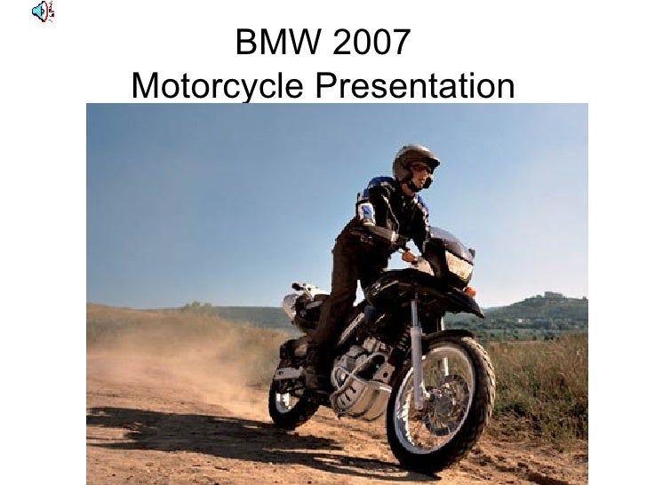 BMW 2007 Motorcycle Presentation