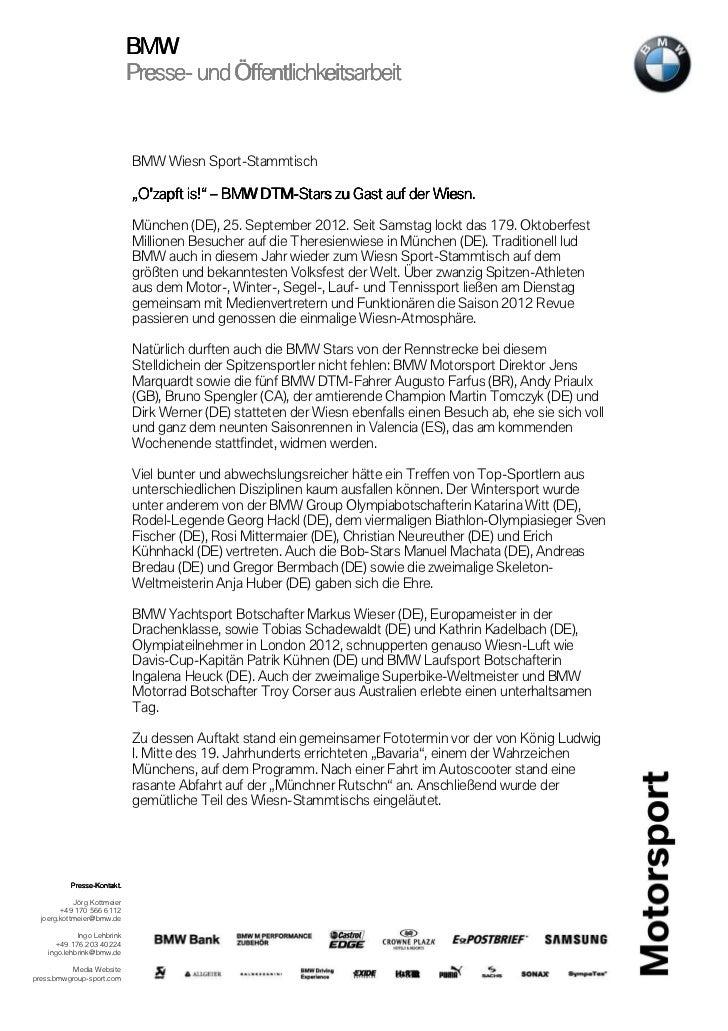 BMW                             Presse-                             Presse- und Öffentlichkeitsarbeit                     ...