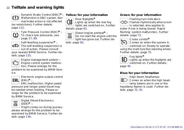Bmw E39 5series Owners Handbook