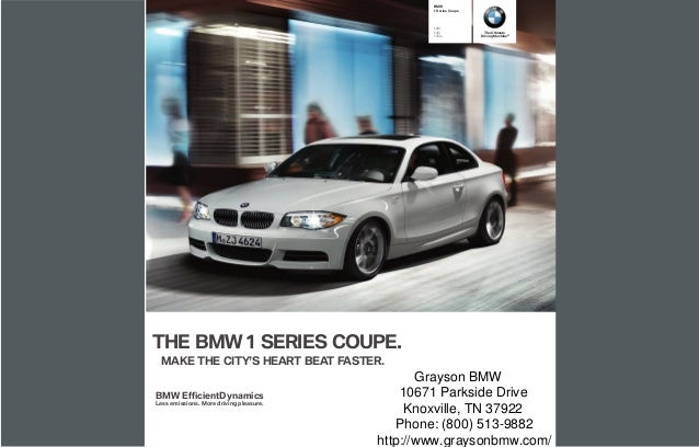 2013 BMW 1 Series Coupe Brochure TN | Tennessee BMW Dealer