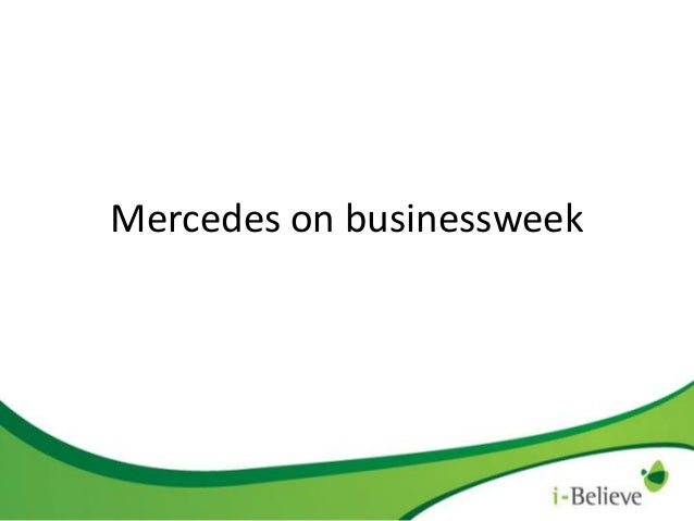 Mercedes Benz on the i-Believe Business Channel and i-Believe Golf Channel