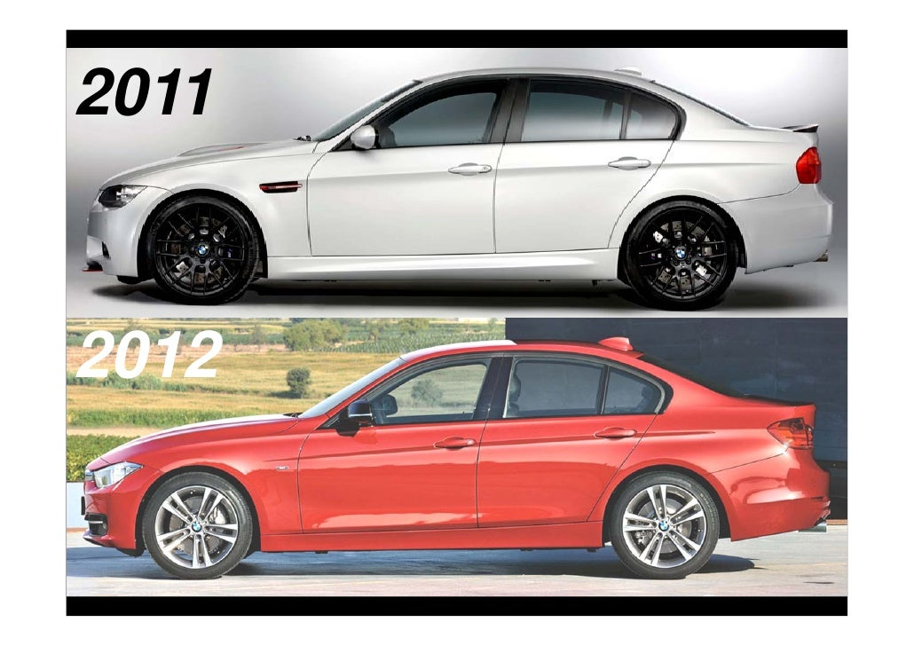 Bmw 3 series 2012 vs 2011