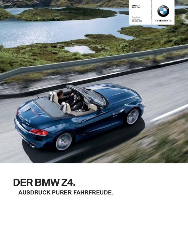 BMW Z4                             Roadster                             Preisliste                             gültig ab  ...