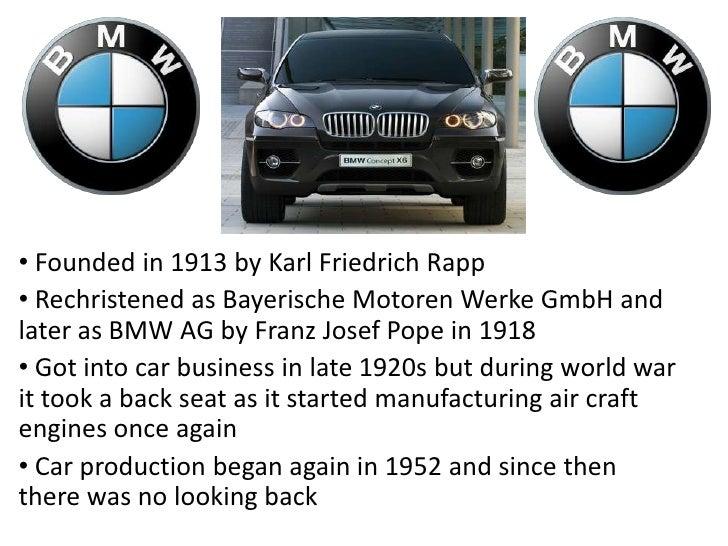 <ul><li> Founded in 1913 by Karl Friedrich Rapp
