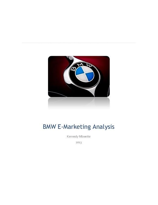 Analysis of BMW e-marketing strategies
