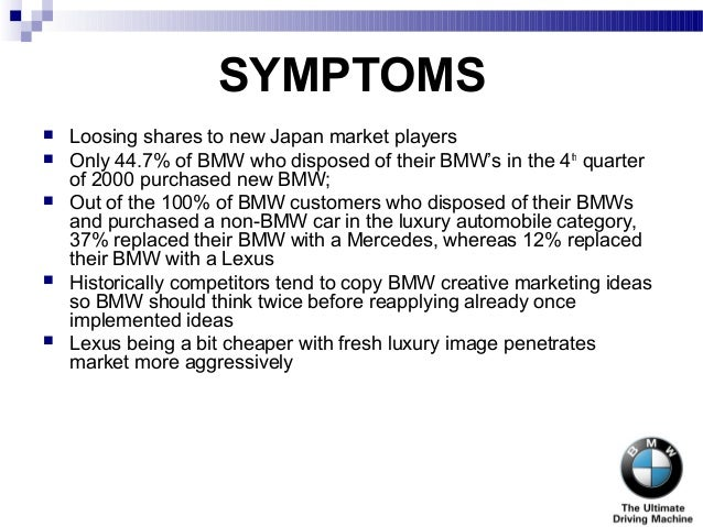 bmw swot Find the latest and comprehensive swot & pestle analysis of bmw, the german luxury automaker, known for its premium designs and experience.