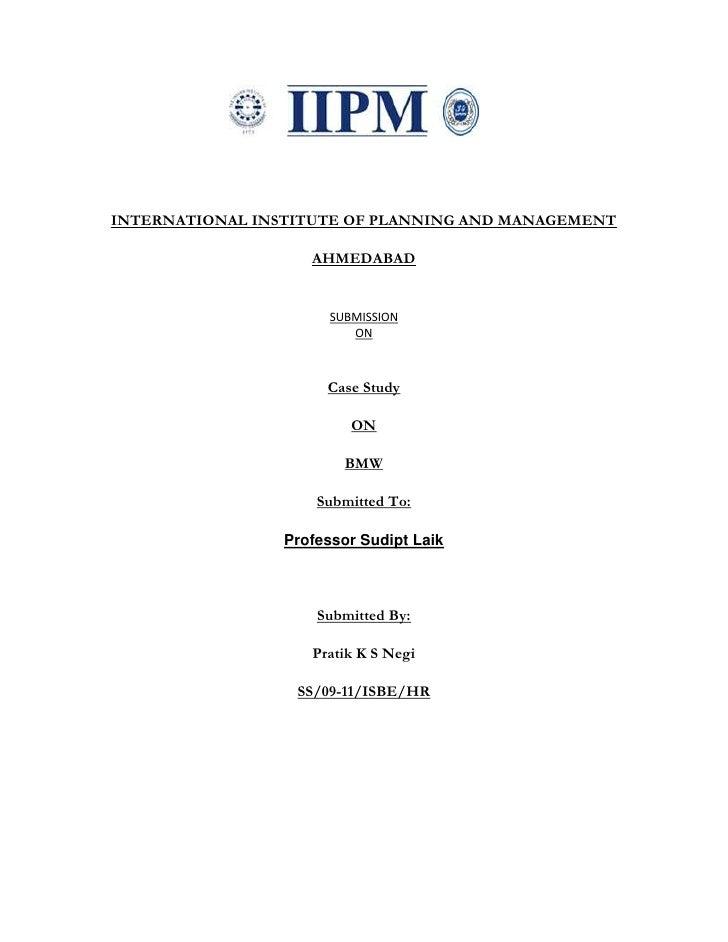 Bmw Lean Manufacturing  (Pratik Negi)
