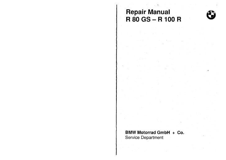 Bmw R80 Gs R100 R