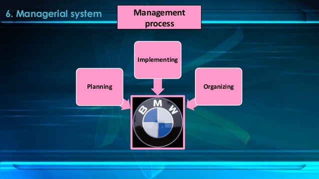 management process on bmw 0 | p a g e 2014 [an analysis of the marketing approaches of bmw, a case study of bmw's x5 model].