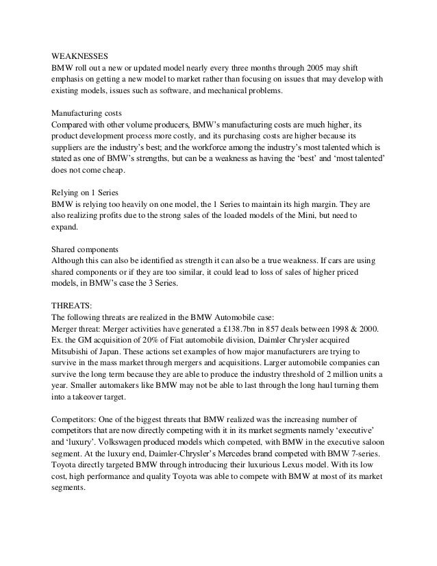 strengths weaknesses opportunities and threats essay The swot analysis framework helps an organization to identify the internal strategic factors such as -strengths and weaknesses, & external strategic factors such as - opportunities and threats it leads to a 2x2 matrix – also known as swot matrix.