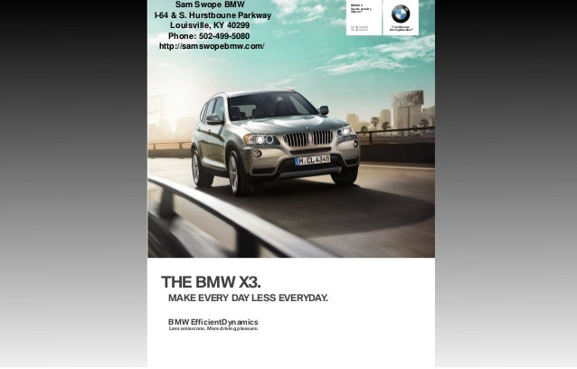 2013 BMW X3 Brochure KY | Louisville BMW Dealer