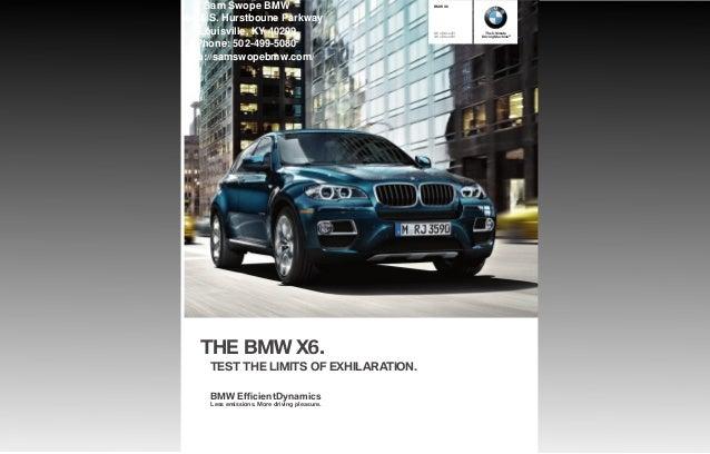 2013 BMW X6 Brochure KY | Louisville BMW Dealer