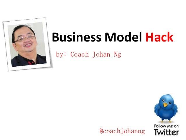 Business Model Hack by: Coach Johan Ng  @coachjohanng