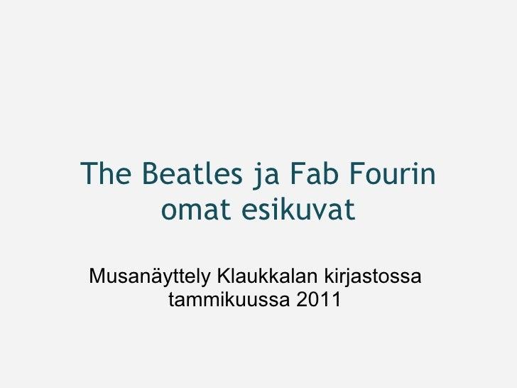 The Beatles ja Fab Fourin omat esikuvat Musanäyttely Klaukkalan kirjastossa tammikuussa 2011