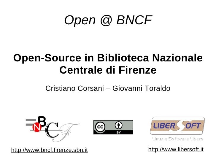 open source in bncf