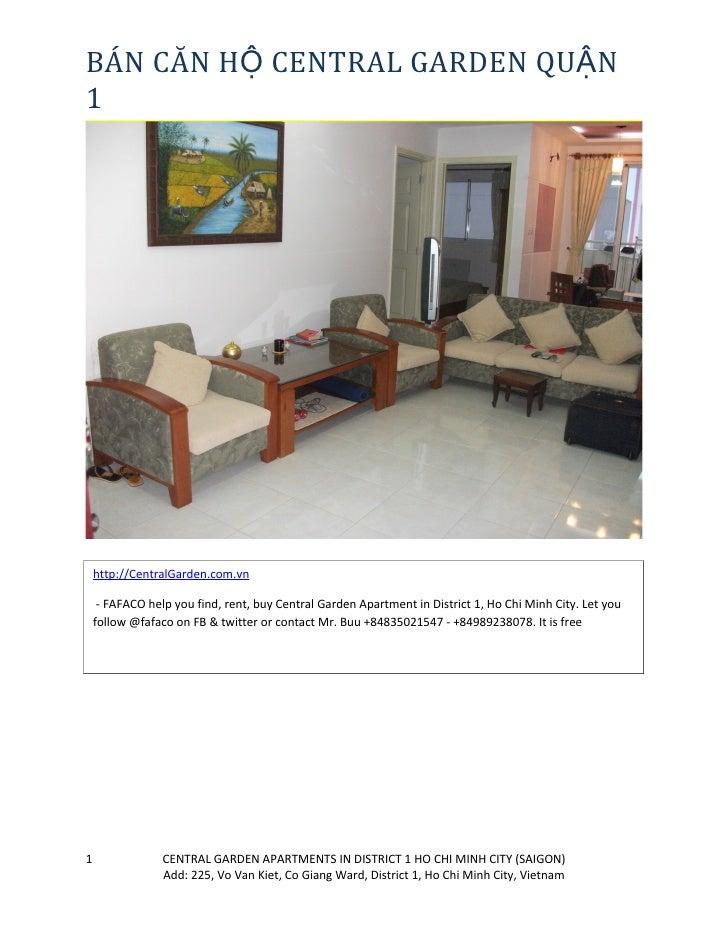 BÁN CĂN HỘ CENTRAL GARDEN QUẬN 1         http://CentralGarden.com.vn       - FAFACO help you find, rent, buy Central Garde...