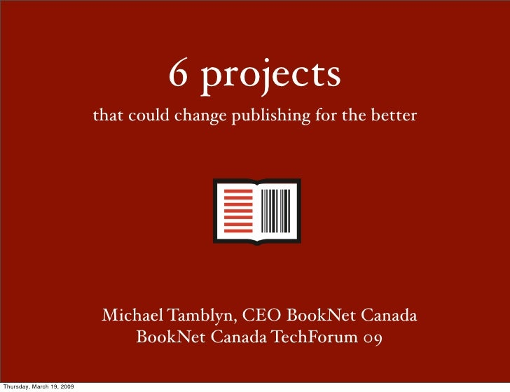 Michael Tamblyn - 6 Projects That Could Change Publishing for the Better