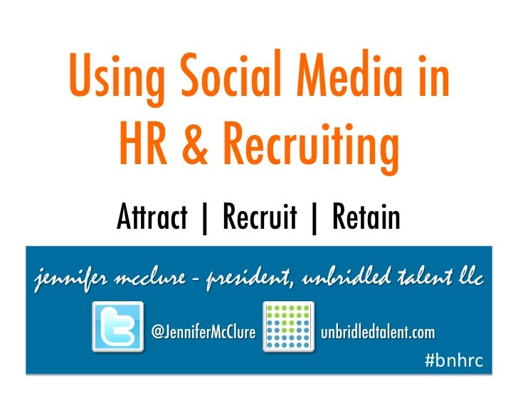 Using Social Media in HR & Recruiting - 2012