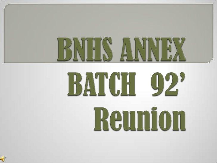 Bnhs Annex       Batch  92'