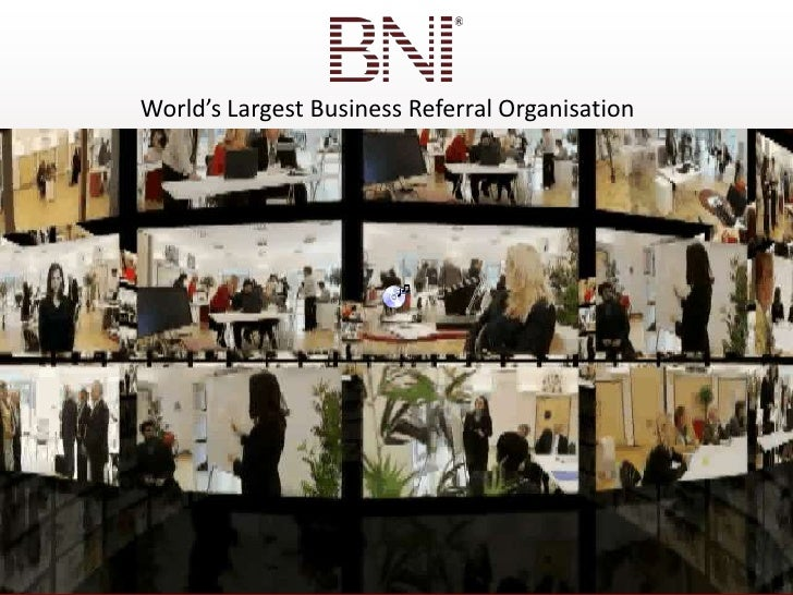 World's Largest Business Referral Organisation<br />